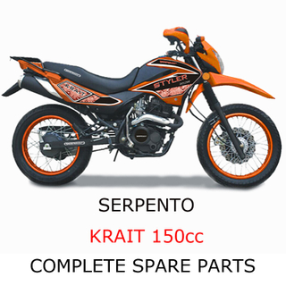 Serpento Dirt Bike KRAIT150cc Pieza Piezas completas